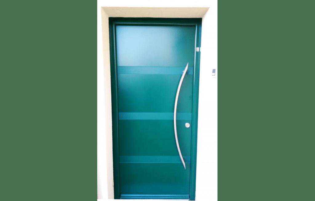 Porte d'entrée en alu